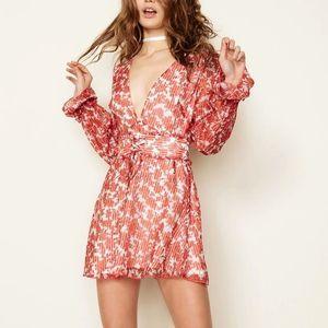 Revolve east order sheer cinch waist floral dress